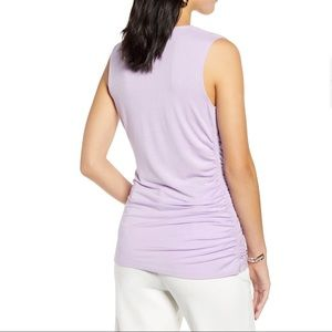 NEW Halogen Cowl Neck Long Ruched Sleeveless Top